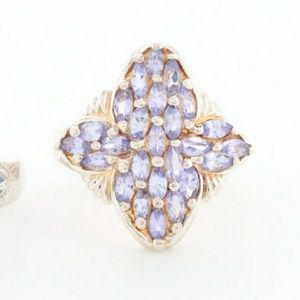 Vintage Tanzanite Clover Shaped Ring